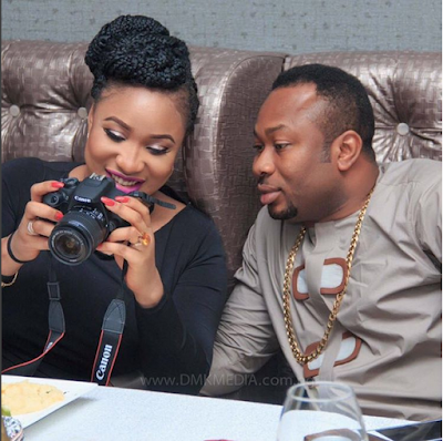 Tonto Dike And Husband Churchill