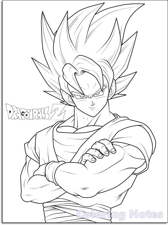Vegeta - Dragon Ball Z Kids Coloring Pages | 790x590