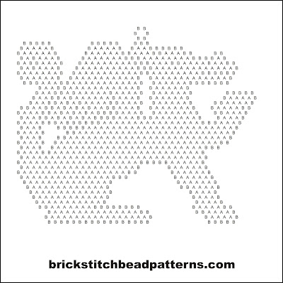 Click for a larger image of the Traditional Winged Dragon Silhouette bead pattern word chart.