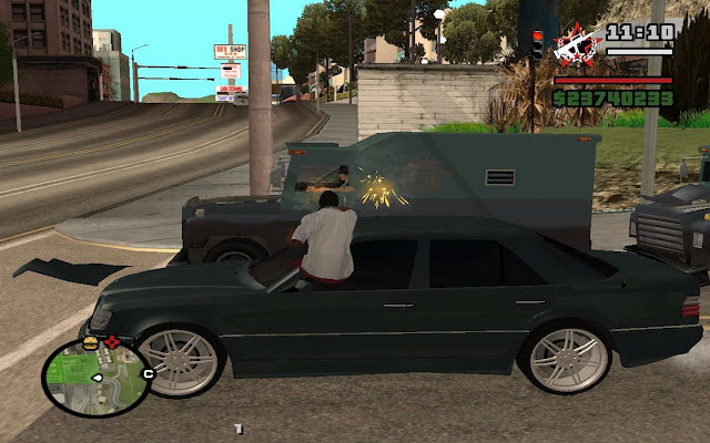 GTA San Andreas Shoot Out Of The Car In GTA 4 Mod