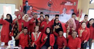 PDI Perjuangan Kota Mojokerto di Pileg dan Pilpres, Melda :Target Kami Menang