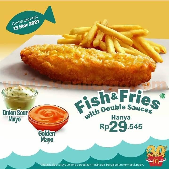 Promo McDonald's Fish & Fries with Double Sauce - harga spesial mulai Rp 29.545