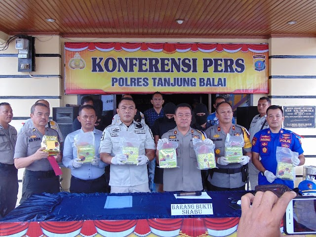 Lagi, Polres Tanjung Balai Ungkap Kasus Sabu Sebanyak 7 Kg