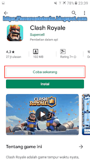game clash royale tanpa install