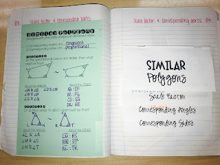 Similar Polygons Foldable