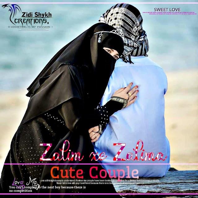 image of stylish islamic girl and boy