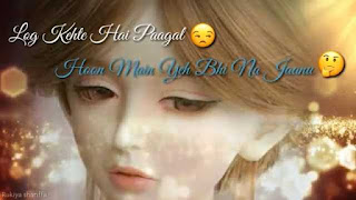 Log Kehte Hain Pagal Female Love Whatsapp Status Video Download