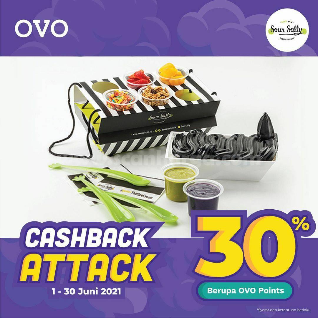 Promo SOUR SALLY Cashback Attack 30% khusus transaksi dengan OVO