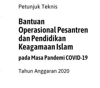 Download Keputusan Dirjen Pendis No: 1248 Tahun 2020 Tentang Juknis BOP Pesantren Dan Pendidikan Keagamaan Islam di Masa Pandemi Covid-19 TA 2020