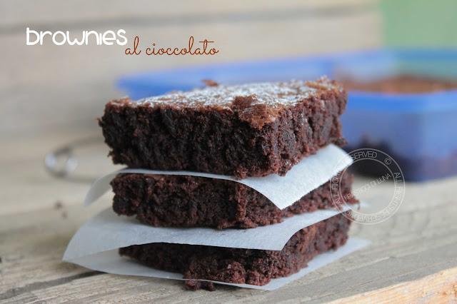 Ricetta | Brownies al cioccolato - senza latte - Ipasticcidiluna.com foodblog