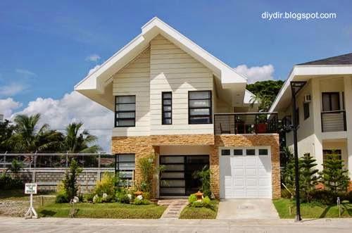 Arquitectura de casas 45 fachadas de casas peque as for Modelos de techos para casas de dos pisos