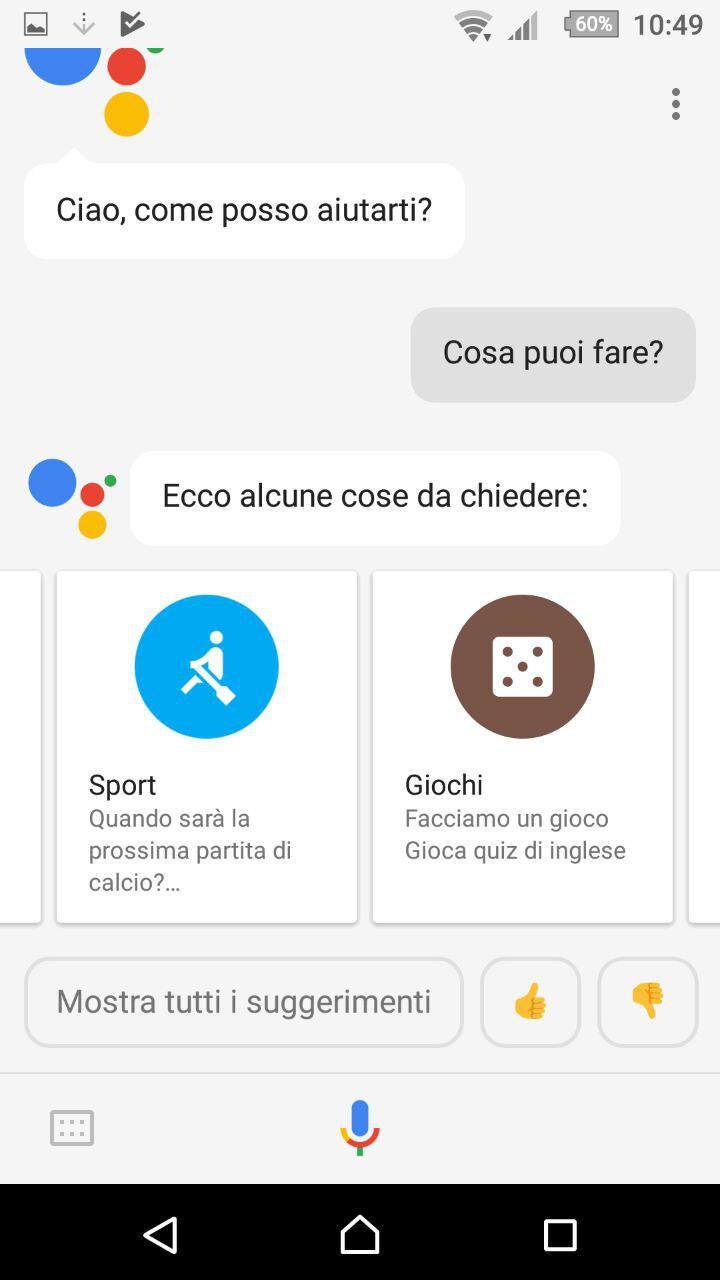 Finalmente google assistant in italiano tuttoxandroid for Google assistant italia