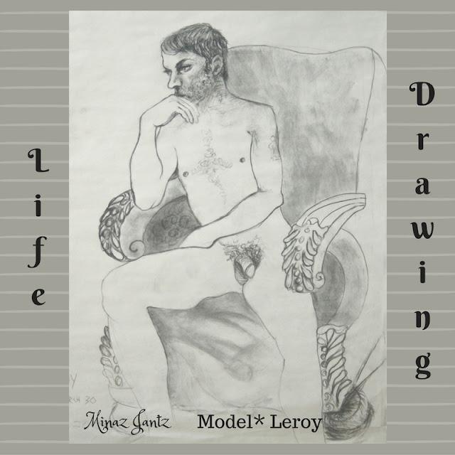 Nude Drawings by Minaz Jantz. Model Leroy
