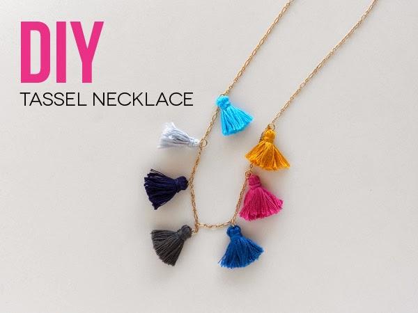 Diy Tassel Necklace Sas Rose