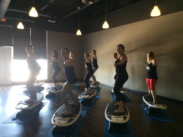 Surf Set class at Illume Hot Yoga YYC