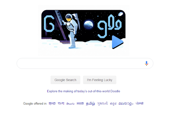 Google Doodle Celebrates 50 Years Of Moon Landing