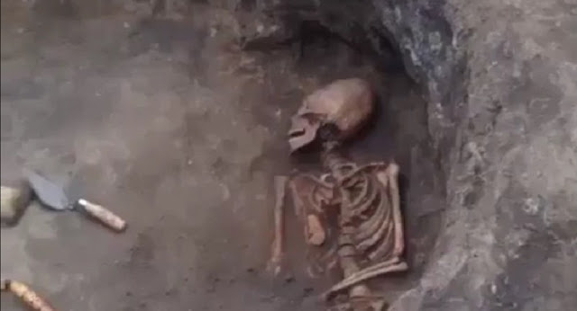 Skeleton with elongated skull discovered in southern Russia