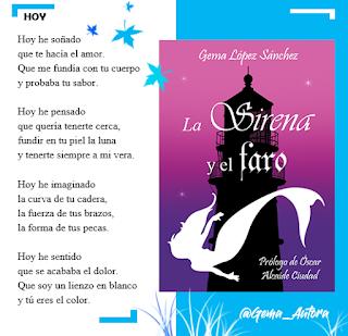 Publicidad del libro La Sirena y el Faro