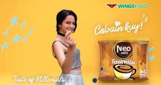 Nama Bintang Pemeran Iklan Neo Coffee Tiramisu Terbaru 2020