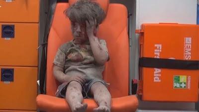 La imagen del pequeño Omran Daqneesh es el nuevo icono de la guerra en Siria