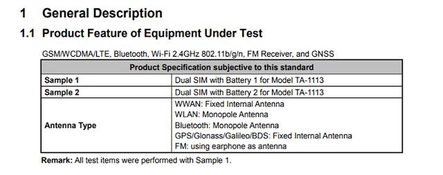 Nokia TA-1113 passes FCC