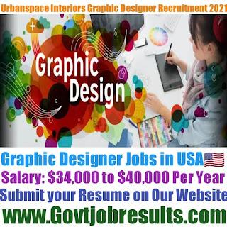 Urbanspace Interiors Graphic Designer Recruitment 2021-22