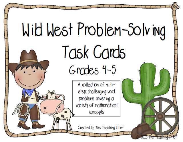 https://www.teacherspayteachers.com/Product/Wild-West-Problem-Solving-Task-Cards-1959960