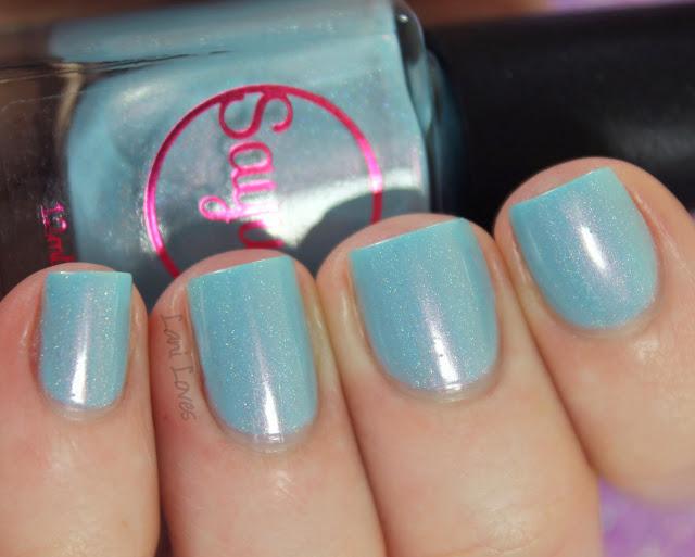 Sayuri Nail Lacquer - Cotton Candy nail polish swatches & review