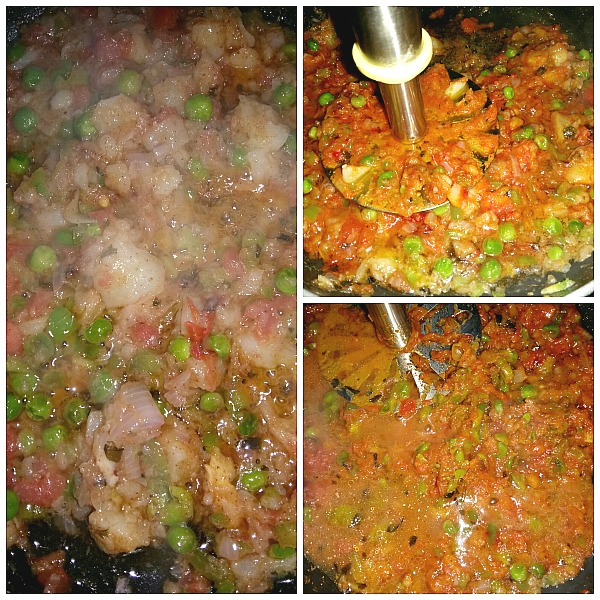 Step by step pictures pf how to make Mumbai Pav Bhaji