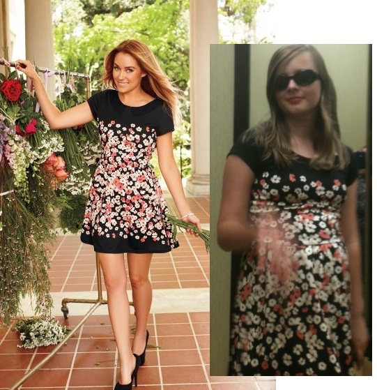 Pictured Our Favorite Pick From The Lauren Conrad Collection Black Dress With Flowers
