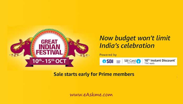 Amazon Great Indian Sale with best offers and exciting deals: eAskme