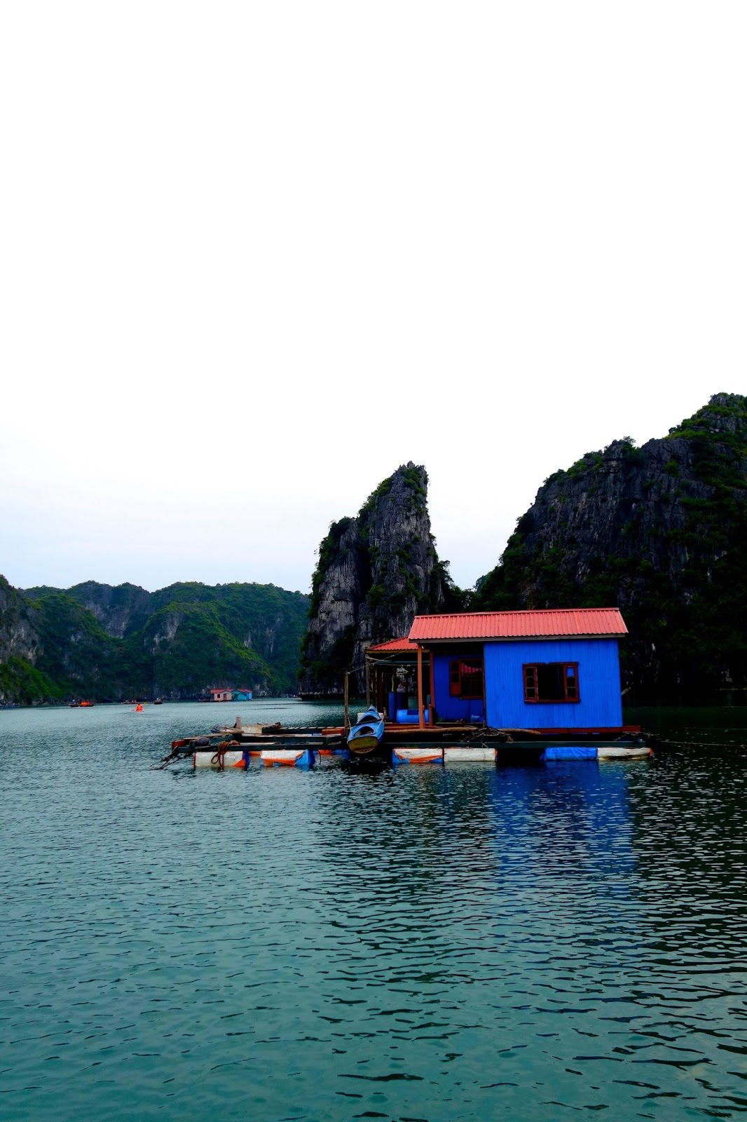 Vung Vieng fishing village in Halong Bay Vietnam