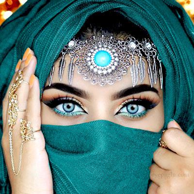 beauty eyes muslim girls dp
