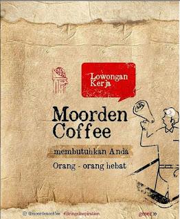 Lowongan Kerja Moorden Coffee Shop Banda Aceh Lulusan SMA