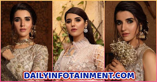 "Hareem Farooq Princess Looks from Abeer Usman luxury collection ""Ada-e-Bahaar"""