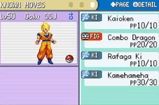 Pokemon Dragon Ball Z Legend of Kakarot para GBA Goku Super Saiyan