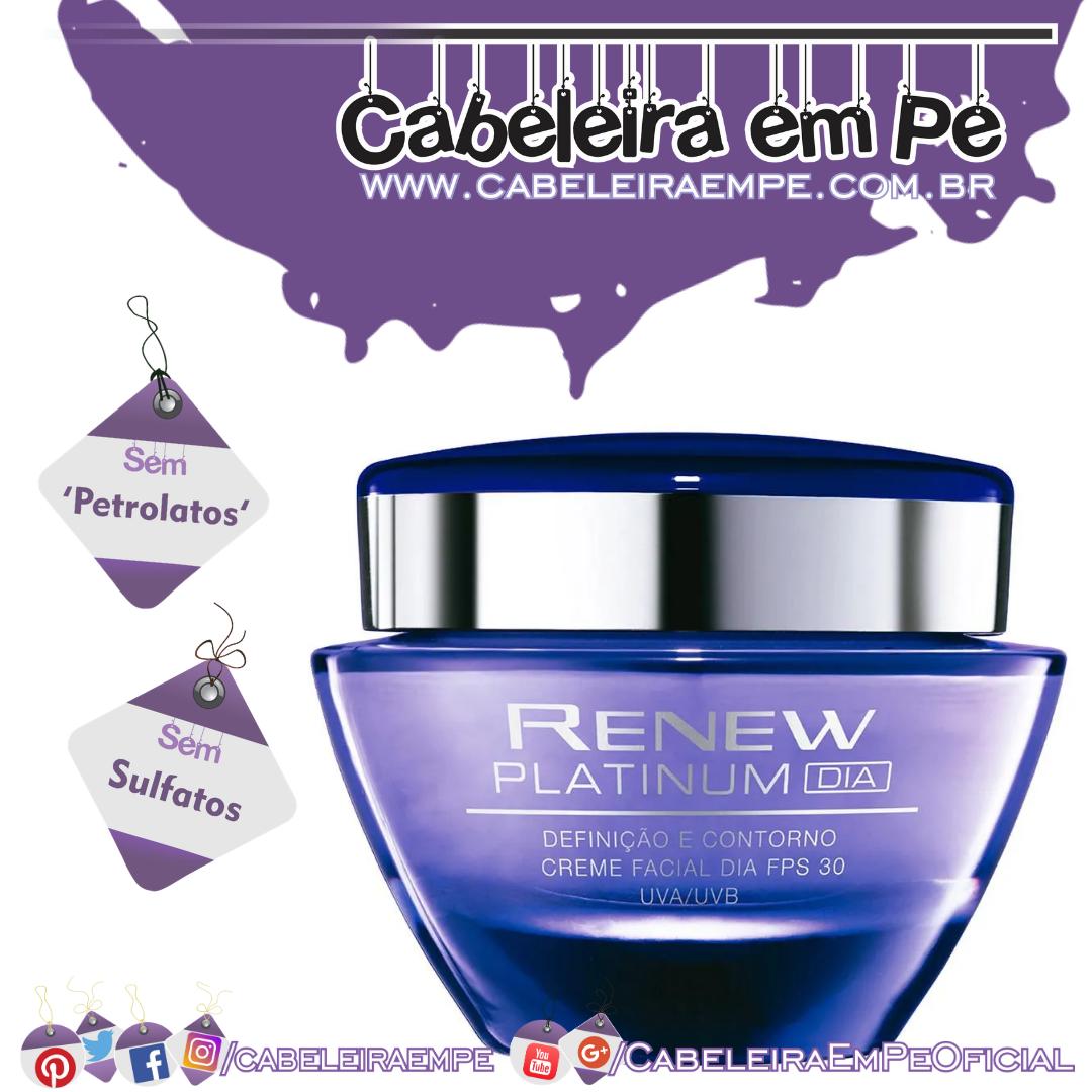 Creme Facial Renew Platinum Fps 30 Dia - Avon