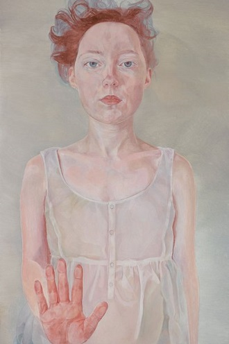 """Numb to touch - self-portrait"" by Natasha Walsh 
