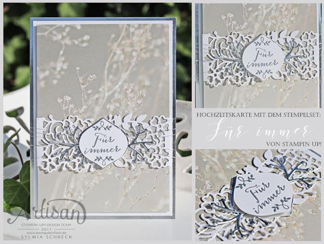Hochzeitskarte Fuer immer von Stampin up bei Sylwia Schreck