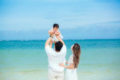 沖縄 家族写真 アラハビーチ