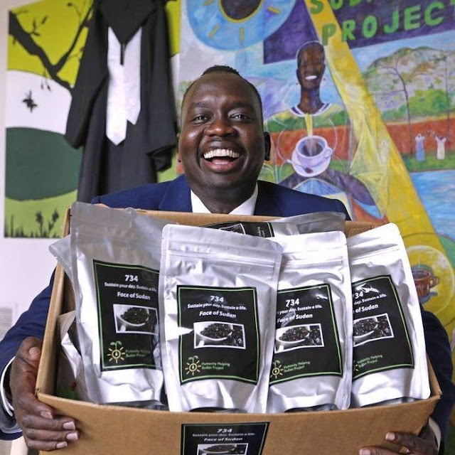 Manyang Reath Kher launches 734 Coffee to Empower People of Sudan