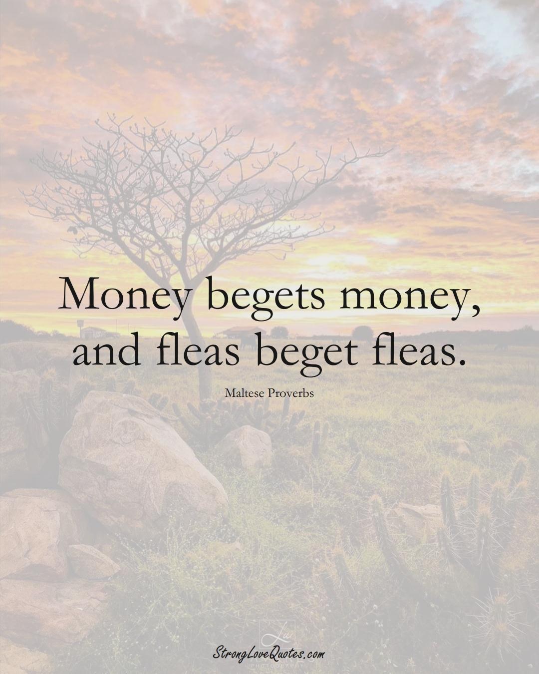 Money begets money, and fleas beget fleas. (Maltese Sayings);  #EuropeanSayings