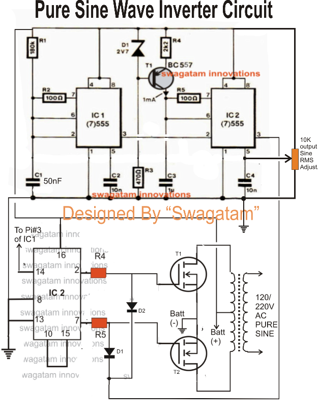 Pure Sine Wave Inverter Schematic Diagram, Pure, Get Free