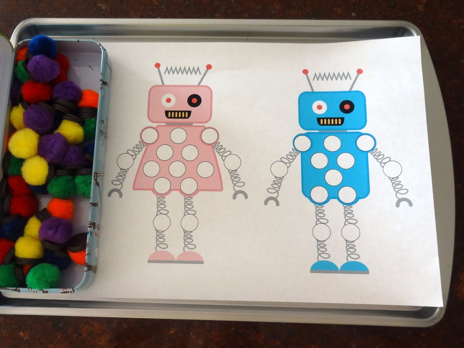 Mom S Tot School Robots