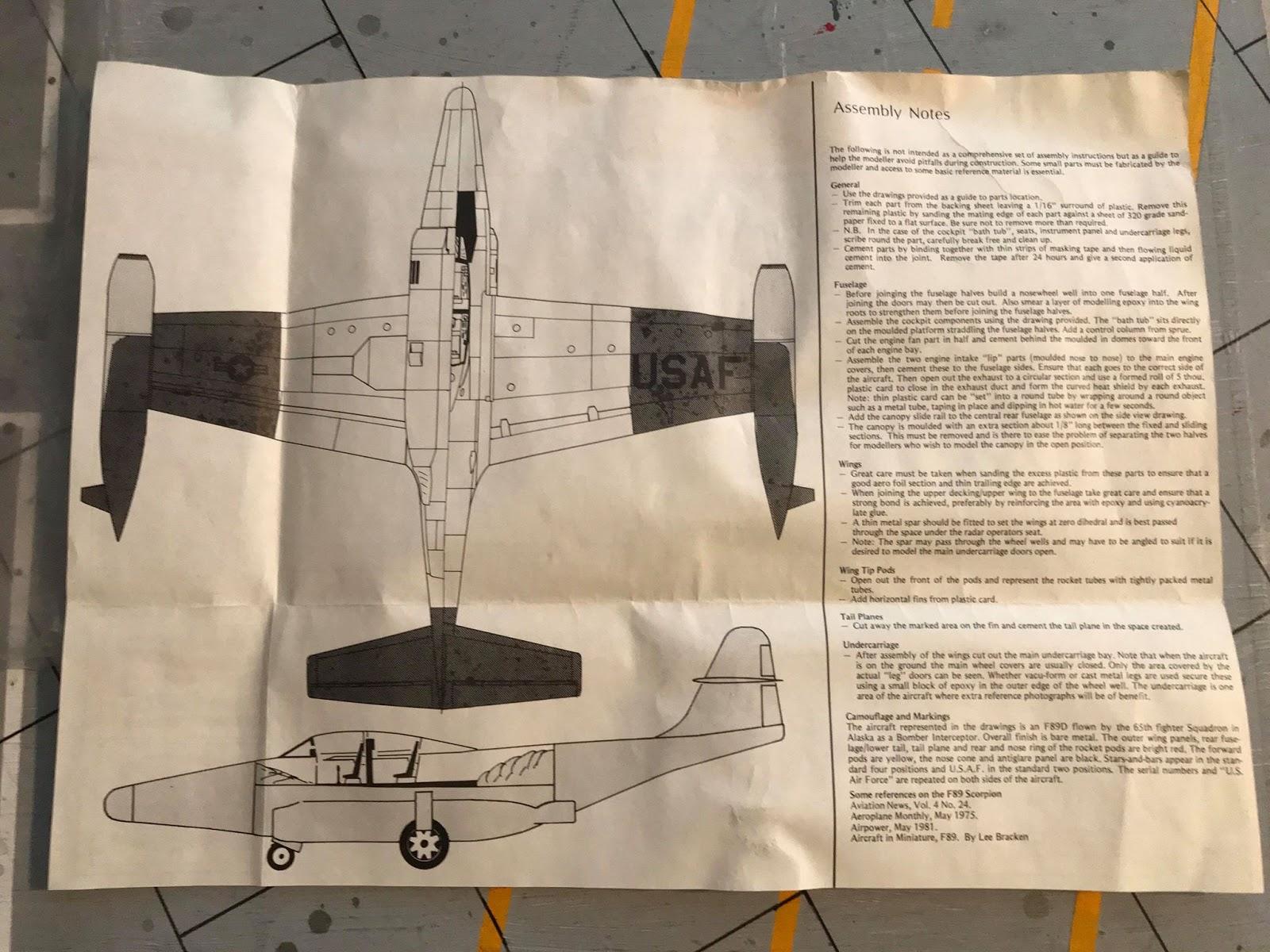 Oldsarges Aircraft Model blog: War Eagle 1/48 F-89 Scorpion Kit