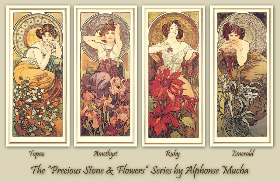 9956ca5ccad My Fanciful Muse ~  Steampunk Beauties - A. Mucha Precious Stones ...