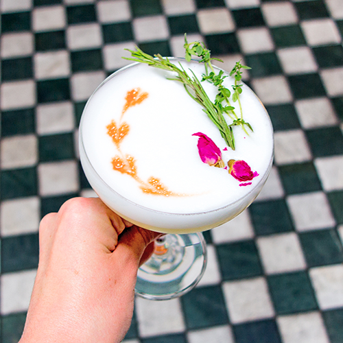 Garden Party Cocktail from Leo's Oyster Bar in San Francisco | LLK-C.com
