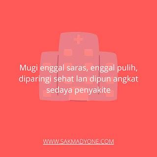 Ucapan cepat sembuh Bahasa Jawa