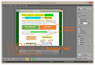 تنزيل برنامج تسجيل الفيدو من سطح المكتب بجودة عالية WinSnap