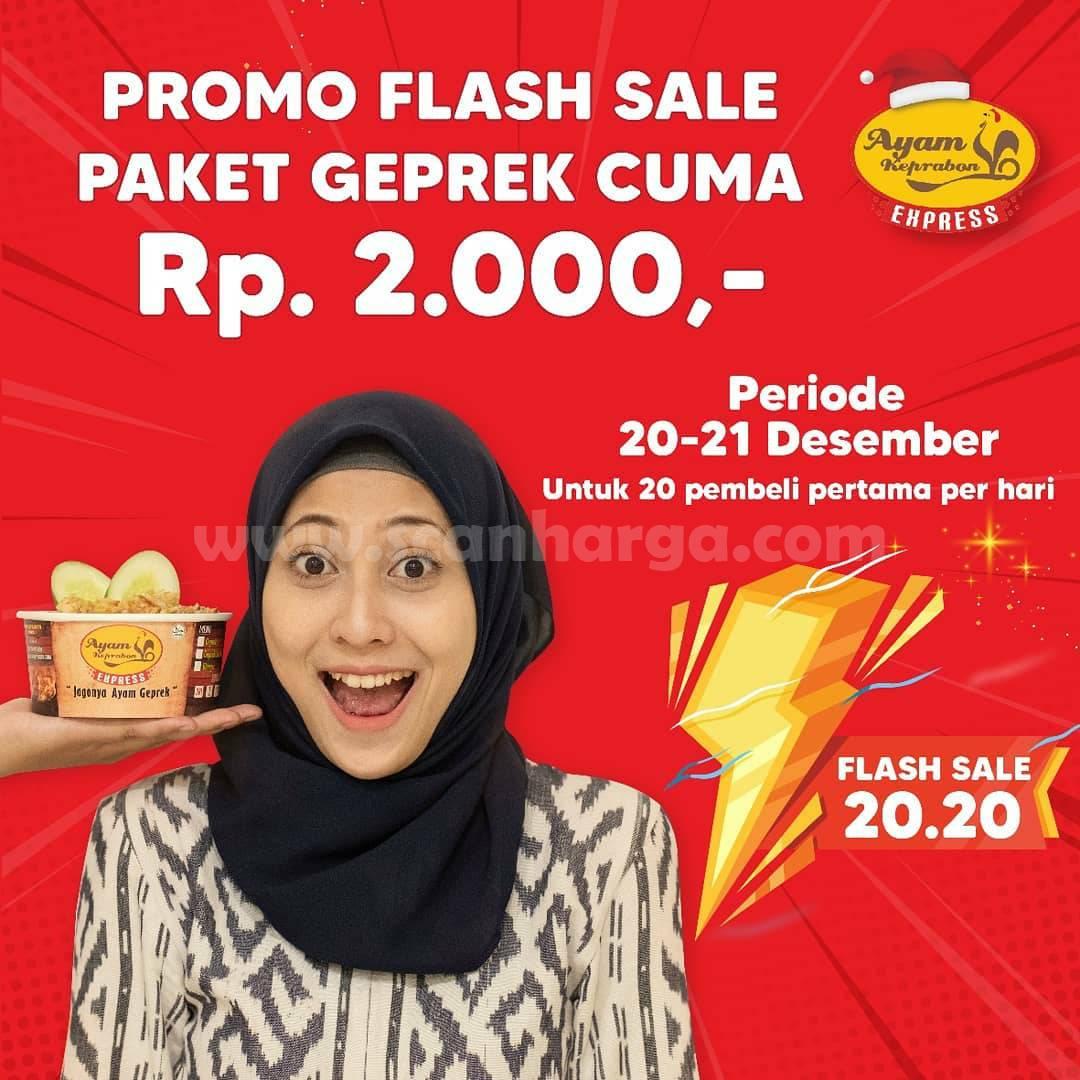 Promo Ayam Keprabon Flash Sale 20.20 – Harga Spesial Paket Geprek hanya Rp 2.000